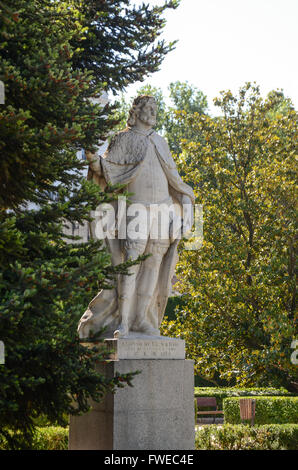 The Sabatini Gardens (in Spanish: Jardines de Sabatini) are part of the Royal Palace in Madrid, Spain, and were - Stock Image