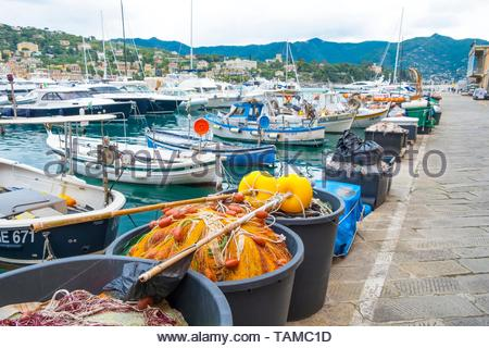 Views of Santa Margherita Ligure. - Stock Image
