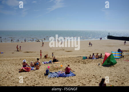 the beach at Walton on the Naze - Stock Image