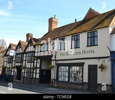 The Red Lion Hotel, Wendover town centre, Buckinghamshire, UK - Stock Image