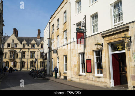 The Eagle public house and restaurant Benet street Cambridge 2019 - Stock Image