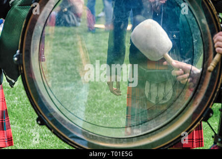 Pipes and drums or pipe band - Stock Image