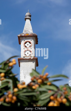 Portugal, Algarve, Alte, Chimney - Stock Image