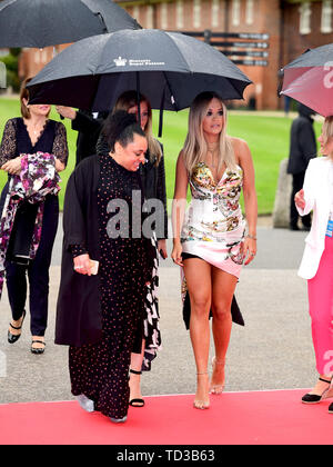 Rita Ora arriving for a concert hosted by Sentebale in Hampton Court Palace in East Molesey, to raise awareness and vital funds for the Duke of Sussex's charity, Sentebale, which helps young people in southern Africa affected by HIV. - Stock Image