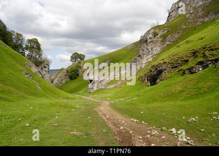 Cavedale at Castleton in Derbyshire, England UK - Stock Image