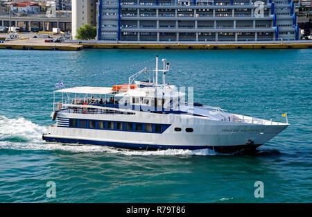 port of Piraeus Athens Greece Europe - Stock Image