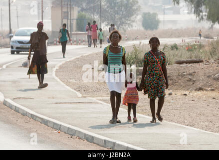 Africa, Namibia, Opuwo. Residents walking through town. Credit as: Wendy Kaveney / Jaynes Gallery / DanitaDelimont.com - Stock Image