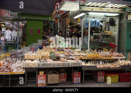 Sweet Stall in Wan Chai Market - Stock Image