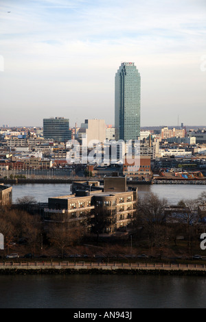 View of Citicorp building in Queens from Manhattan, New York, NY, USA - Stock Image