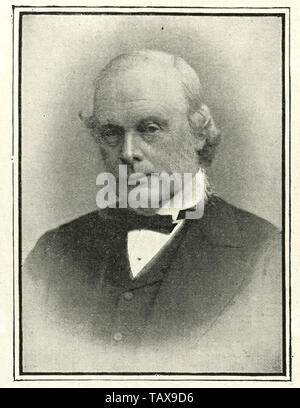 Vintage photograph of Joseph Lister (Lord Lister) a British surgeon and a pioneer of antiseptic surgery. - Stock Image