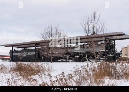 Locomotive at Duluth Iron Range. Two Harbors, Minnesota, USA. - Stock Image