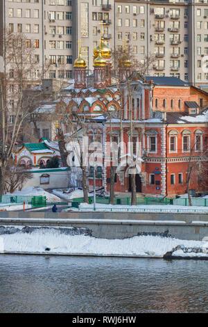 St. Nicholas church, Kirillov's house, 17th century, Moscow, Russia - Stock Image