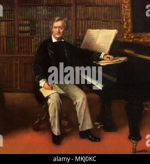 Composer at Piano - Stock Image