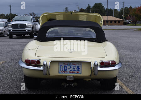 Jaguar E Type Sports Car. - Stock Image