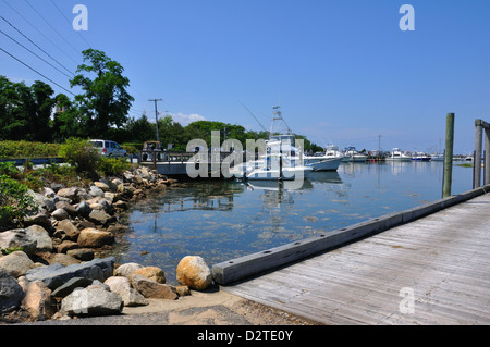 Cape Cod marina, Massachusetts, USA - Stock Image