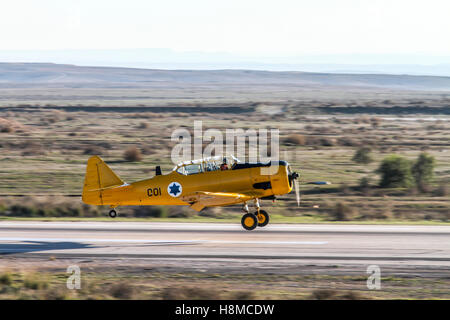 Israeli Air force North American Aviation T-6 Texan single-engine advanced trainer aircraft - Stock Image