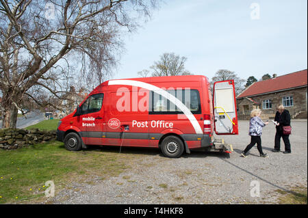 Mobile post office van in Danby, North Yorkshire, England - Stock Image