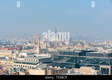 Afternoon aerial view of Budapest cityscape at Hungary - Stock Image