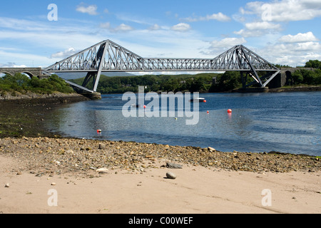 Connel Bridge, the Falls of Lora and Loch Etive - Stock Image