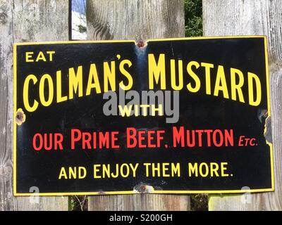 Colman's Mustard, historic advert - Stock Image