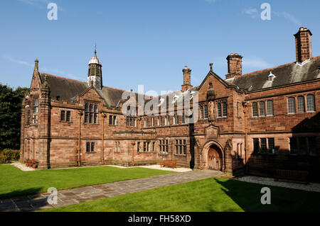 The entrance of Gladstones Library in Hawarden North Wales UK - Stock Image