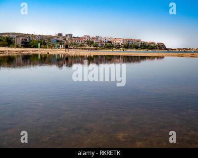 Skala Marion beach in Thassos, Greece - Stock Image