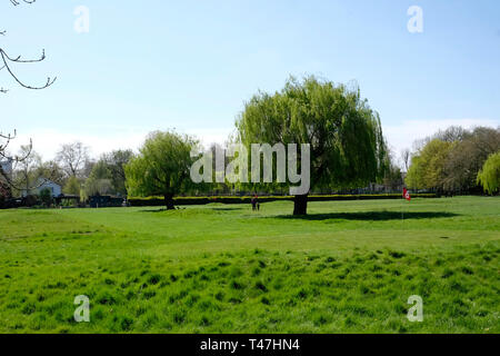 A general view of the golf course in Queen's Park, London - Stock Image