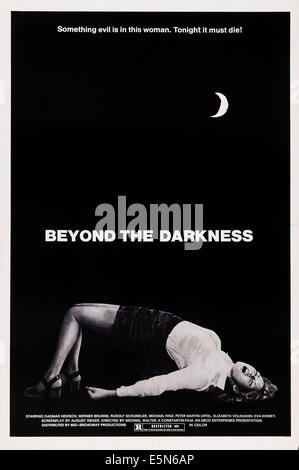 BEYOND THE DARKNESS, (aka MAGDALENA, VOM TEUFEL BESESSEN), US poster art, Dagmar Hedrich, 1974 - Stock Image