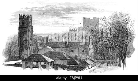 The three towers Richmond circa 1880 - Stock Image