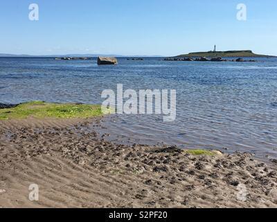 The beach at Kildonan, Arran. - Stock Image