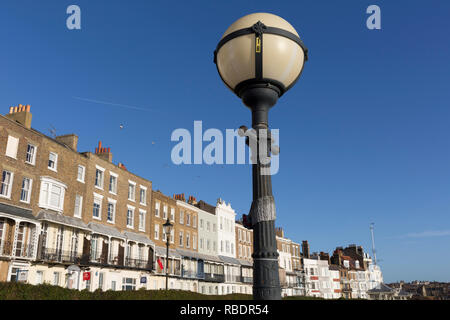 Housing architecture on Nelson Crescent, Royal Parade, on 8th January 2019, in Ramsgate, Kent, England. - Stock Image