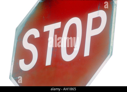Traffic stop sign - Stock Image