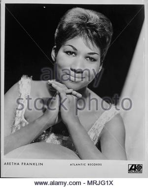 Publicity portrait of Aretha Franklin, circa 1960's. Editorial use only. - Stock Image