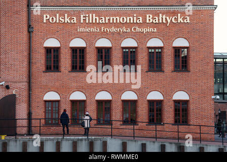 Polish Baltic Philharmonic Concert Hall in Gdansk - Stock Image