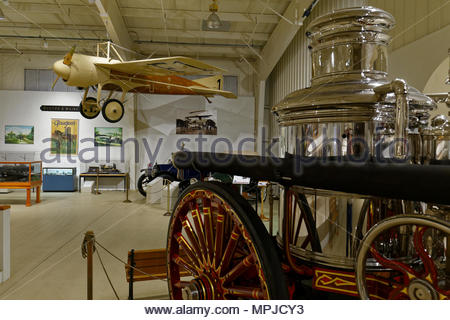 Display at the Owls Head Transportation Museum, Maine, USA - Stock Image