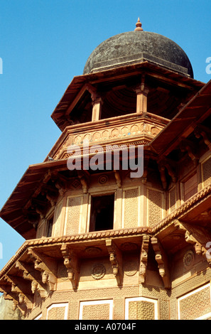 Agra Fort - Roof Detail, Rajasthan, India - Stock Image