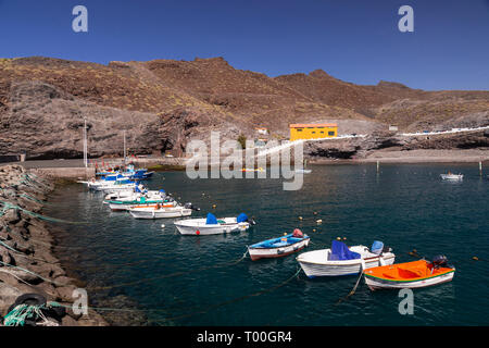 Boats at Puerto de Aldea, Gran Canaria, Canary Islands - Stock Image
