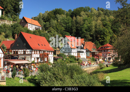 Kurort Rathen, Elbe Sandstone Mountains, Germany - Stock Image