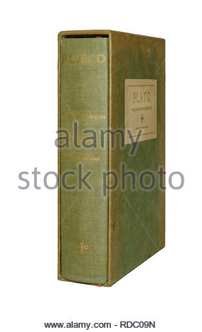 The Collected Dialogues of Plato,hardbound, edited by Edith Hamilton and Huntington Carins, isolated, white background - Stock Image