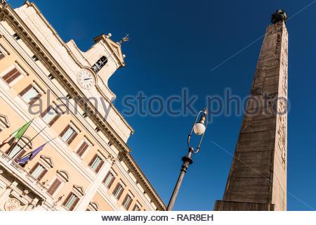 Palazzo Montecitorio, Rome, Italy - Stock Image