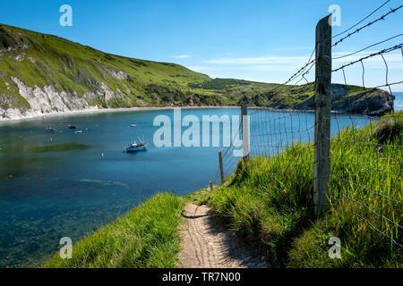 View across Lulworth Cove Dorset - Stock Image