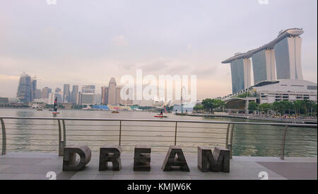 Marina Bay Sands Singapore - Stock Image