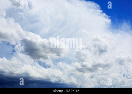 Summer storm clouds building up in the Midwest, USA. - Stock Image