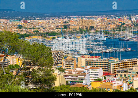 Palma de Mallorca skyline - Stock Image