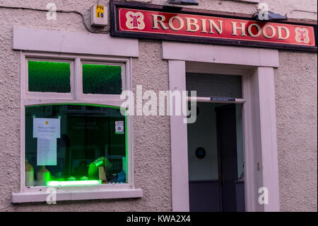 Notice of Boston Borough Council UKIP councillors' surgeries at the Batemans Robin Hood pub, High Street, Boston, - Stock Image