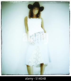 Cowgirl - Stock Image