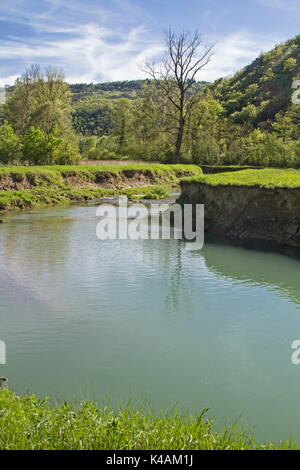 Mirna Is A 53 Kilometer Long River In Istria Offering Beautiful Landscapes - Stock Image