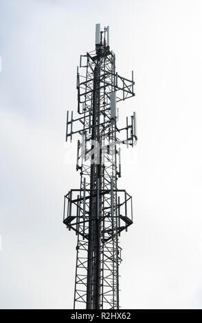 Communications mast - Stock Image