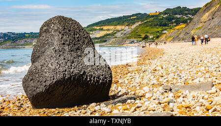 Rock formations on the coast at Dorset, England. - Stock Image