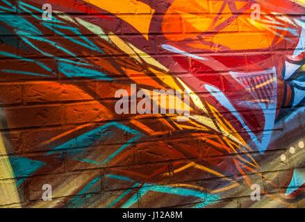 Graffiti, colorful urban design in Toronto, Canada - Stock Image